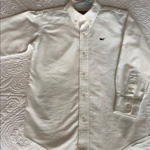 Boys Vineyard Vines White dress Shirt size 7